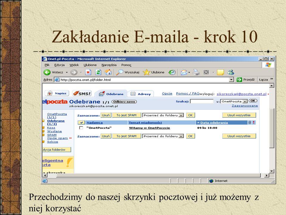 Zakładanie E-maila - krok 10