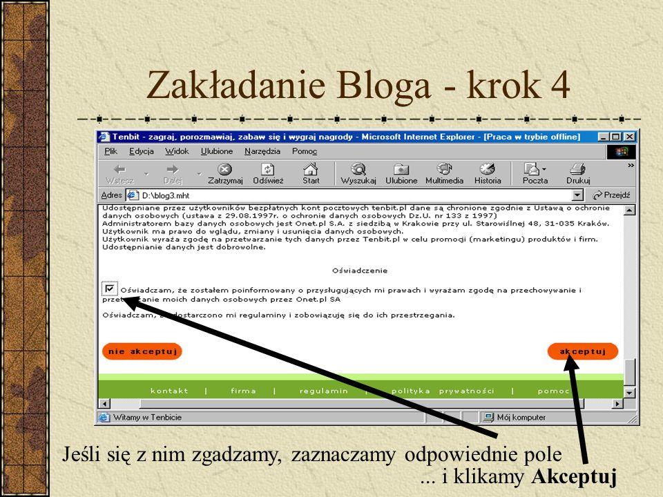 Zakładanie Bloga - krok 4