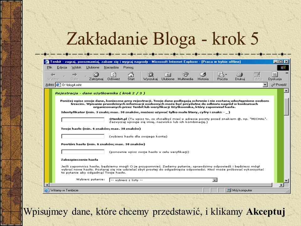 Zakładanie Bloga - krok 5