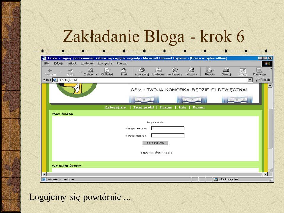 Zakładanie Bloga - krok 6