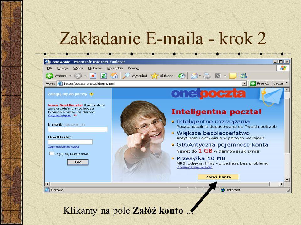Zakładanie E-maila - krok 2