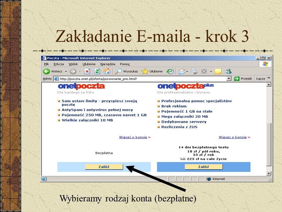 Zakładanie E-maila - krok 3