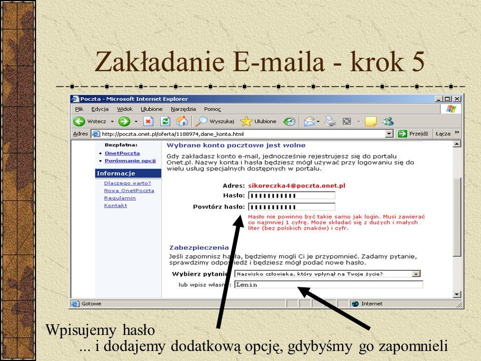 Zakładanie E-maila - krok 5