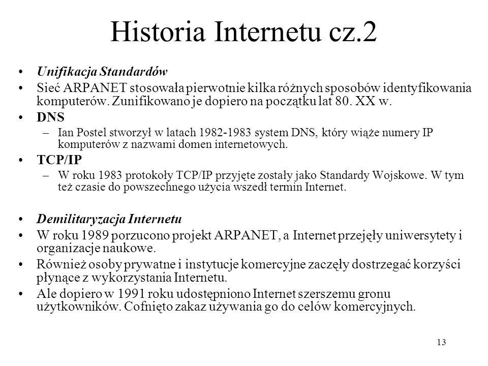 Historia Internetu cz.2 Unifikacja Standardów