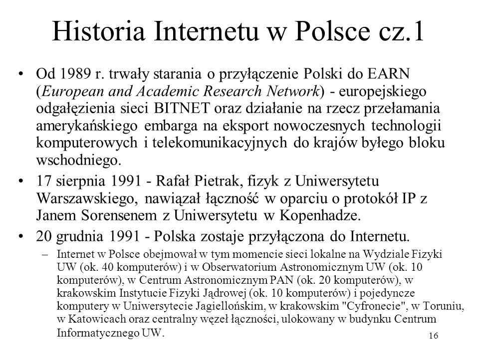 Historia Internetu w Polsce cz.1