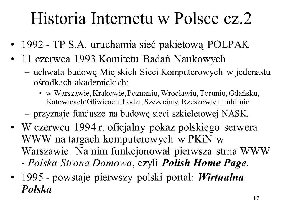 Historia Internetu w Polsce cz.2