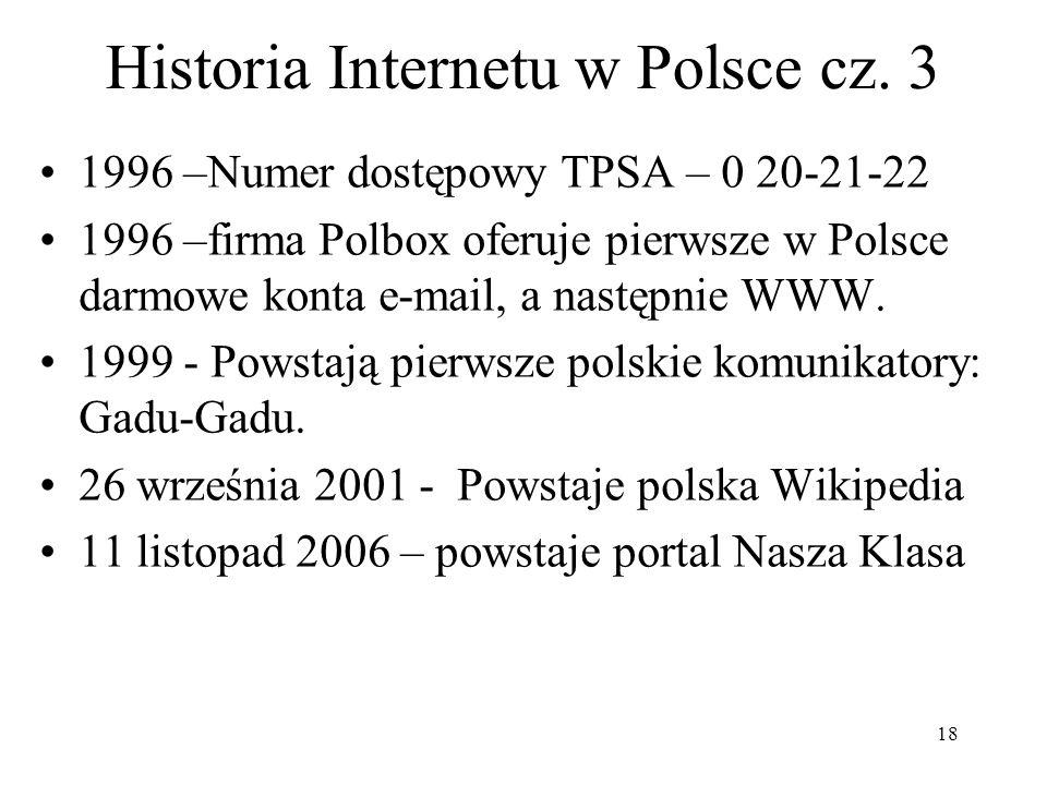 Historia Internetu w Polsce cz. 3