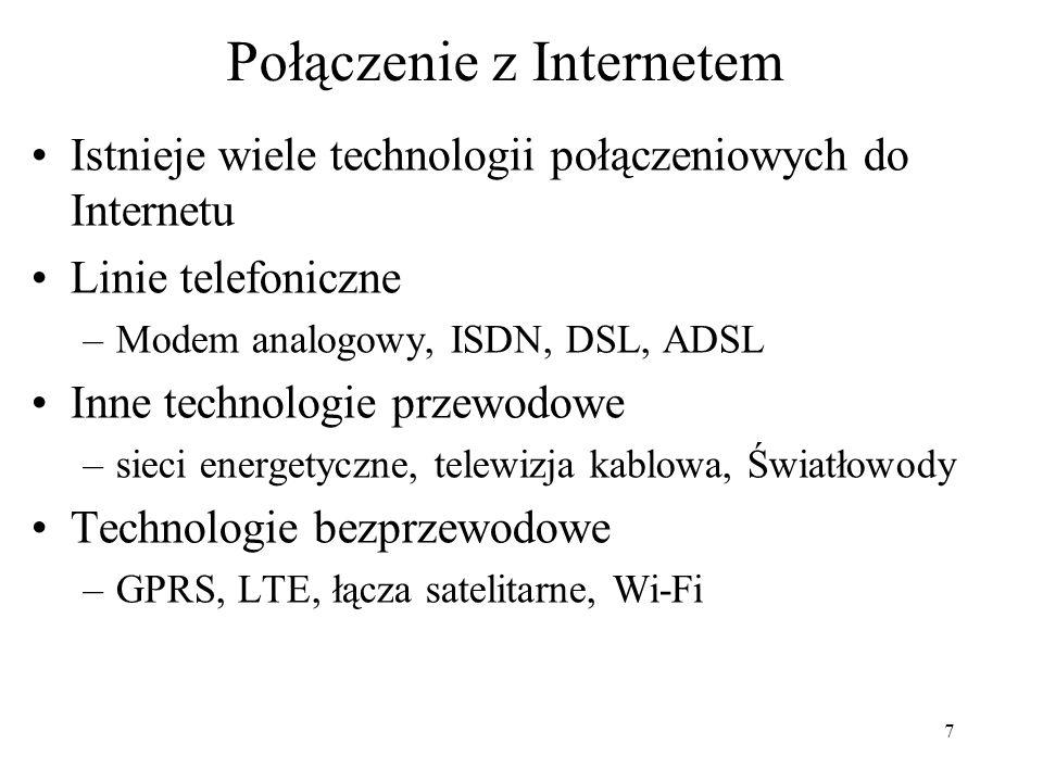 Połączenie z Internetem