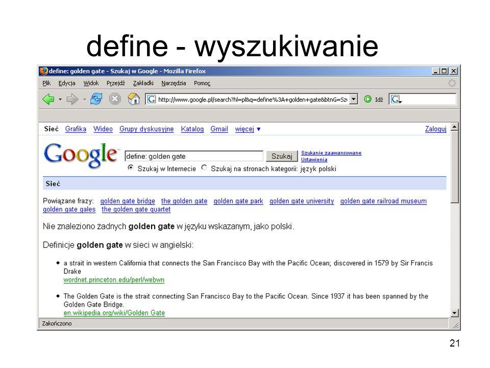 define - wyszukiwanie