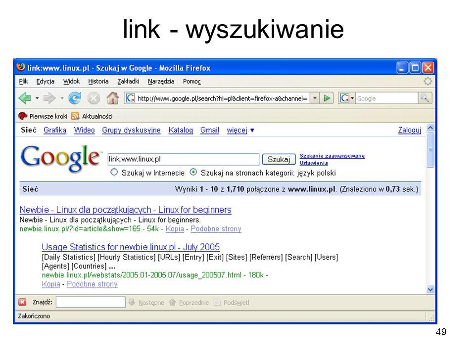 link - wyszukiwanie