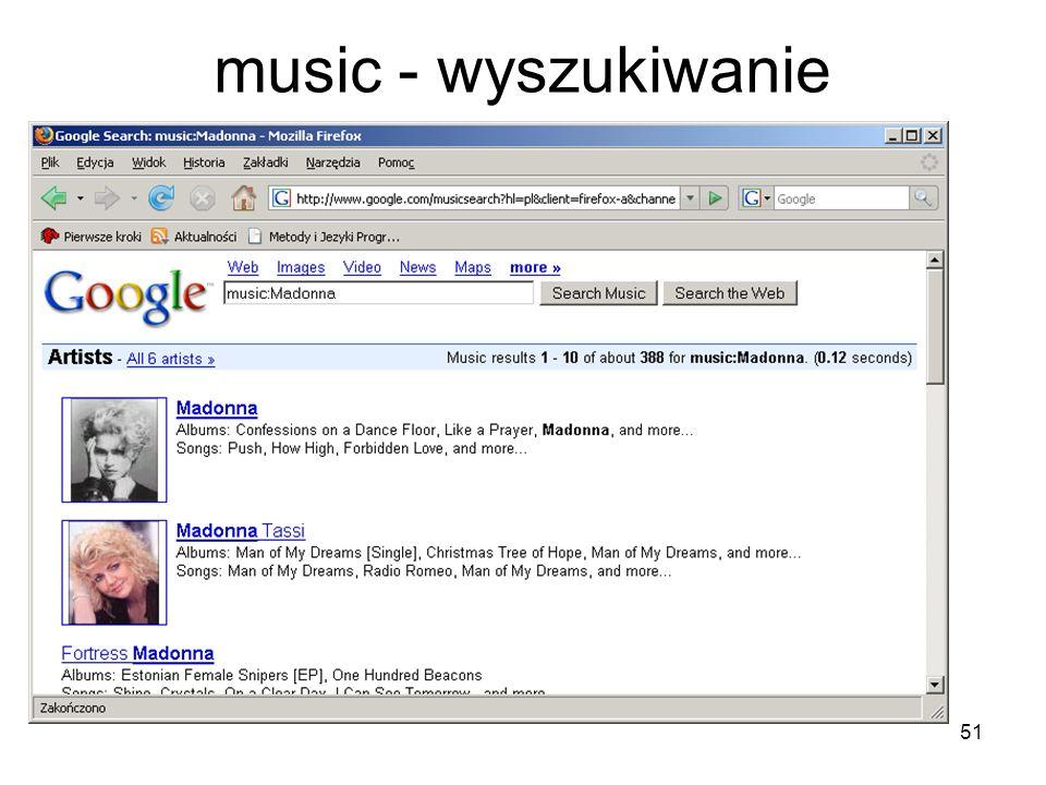 music - wyszukiwanie