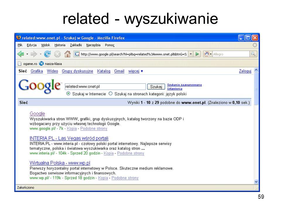 related - wyszukiwanie