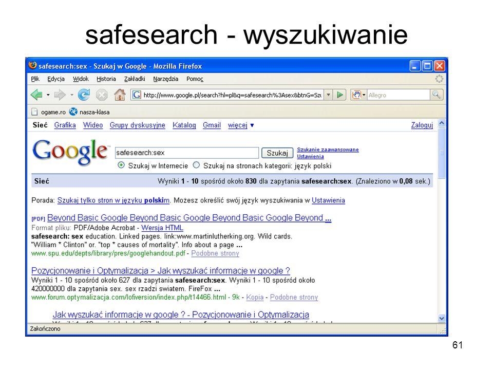 safesearch - wyszukiwanie