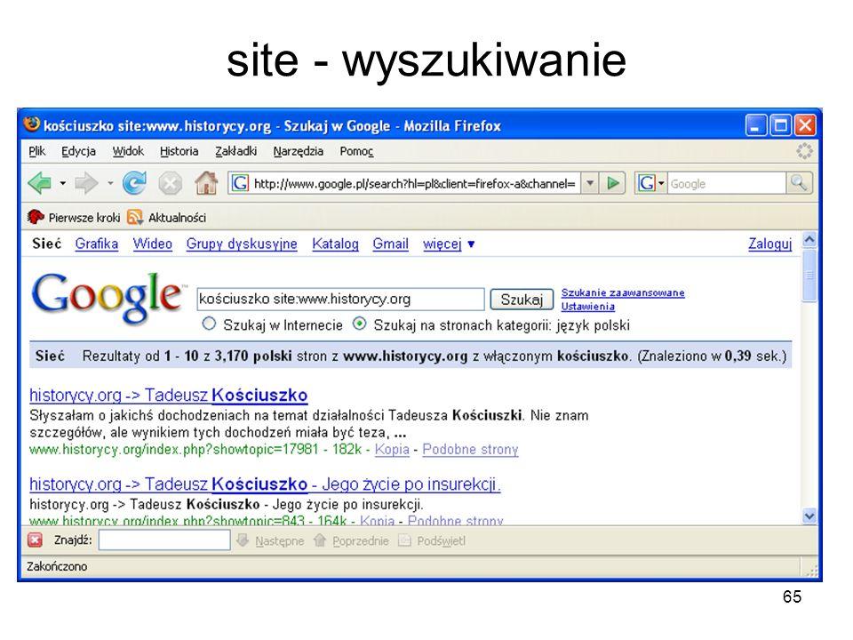 site - wyszukiwanie