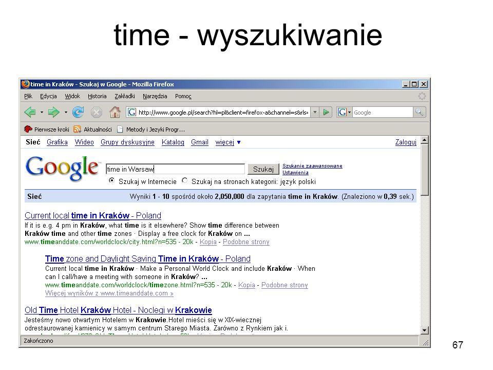 time - wyszukiwanie