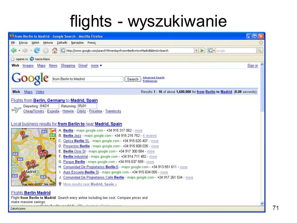 flights - wyszukiwanie