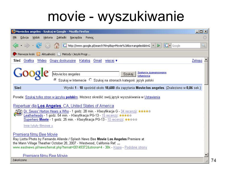 movie - wyszukiwanie