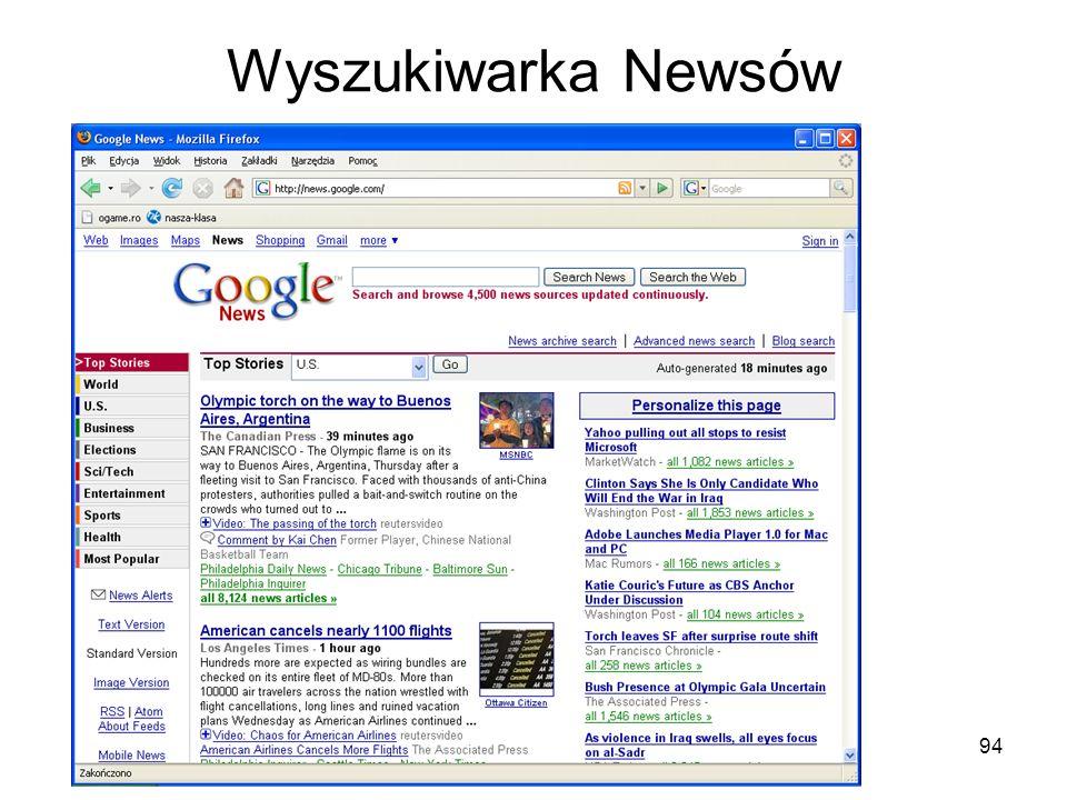 Wyszukiwarka Newsów