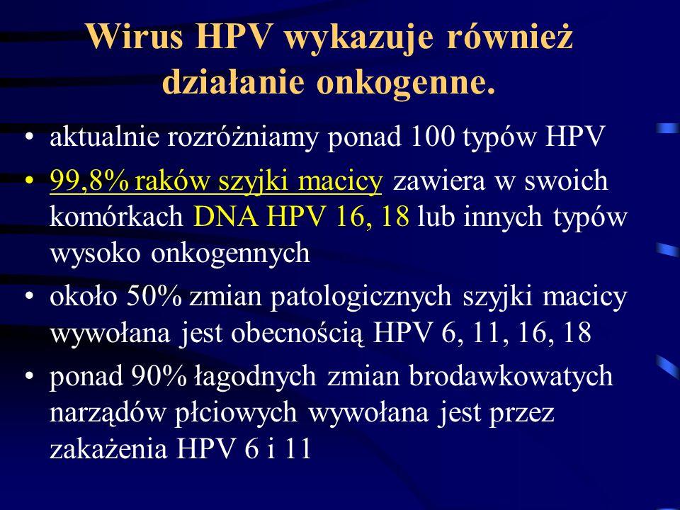 Wirus HPV wykazuje również działanie onkogenne.