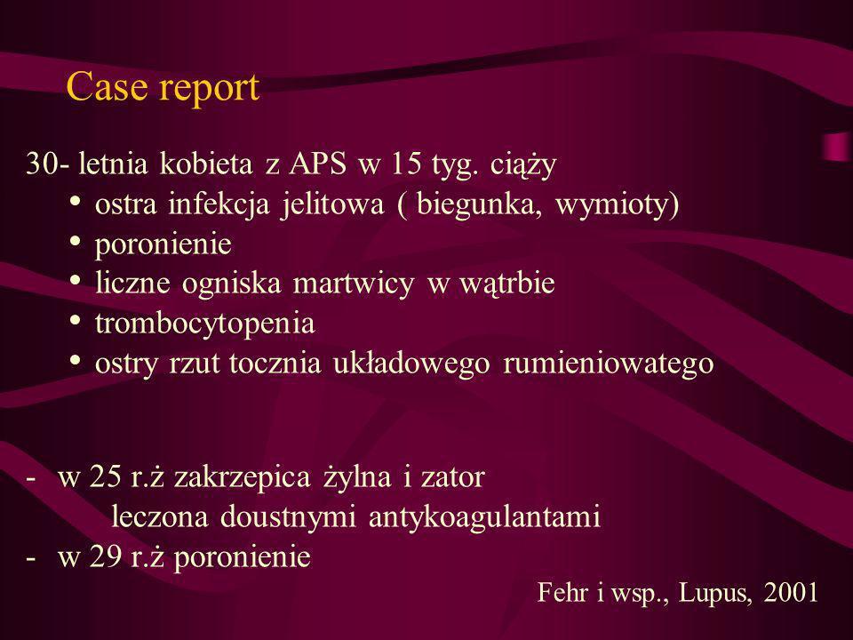 Case report 30- letnia kobieta z APS w 15 tyg. ciąży