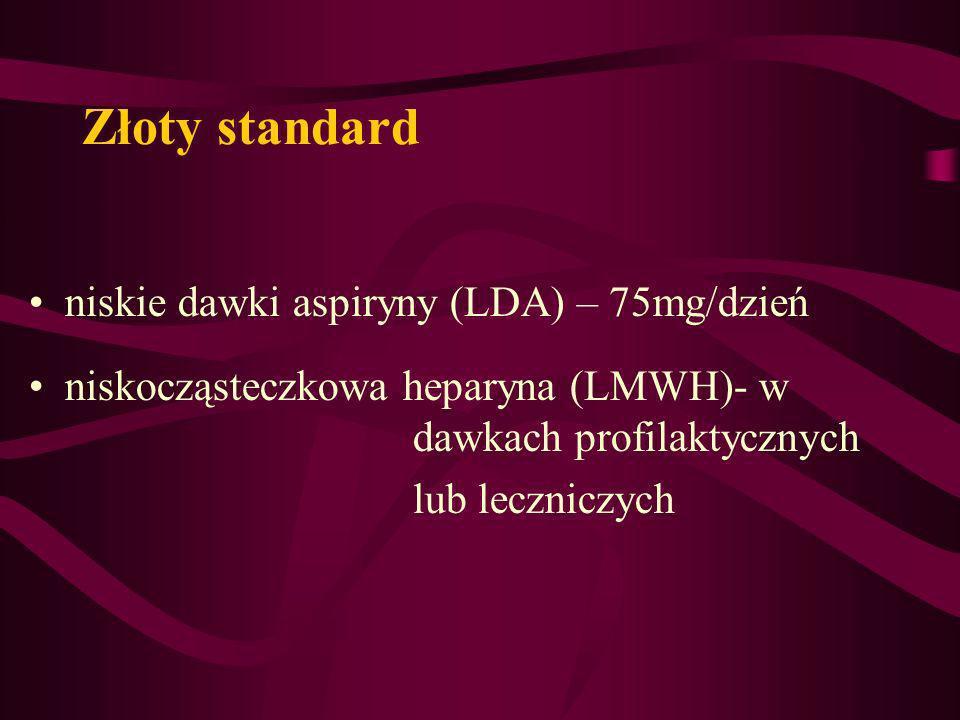 Złoty standard niskie dawki aspiryny (LDA) – 75mg/dzień