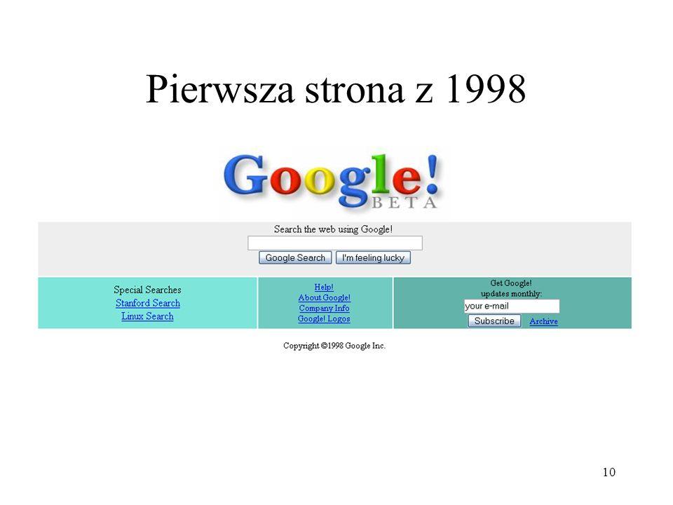 Pierwsza strona z 1998