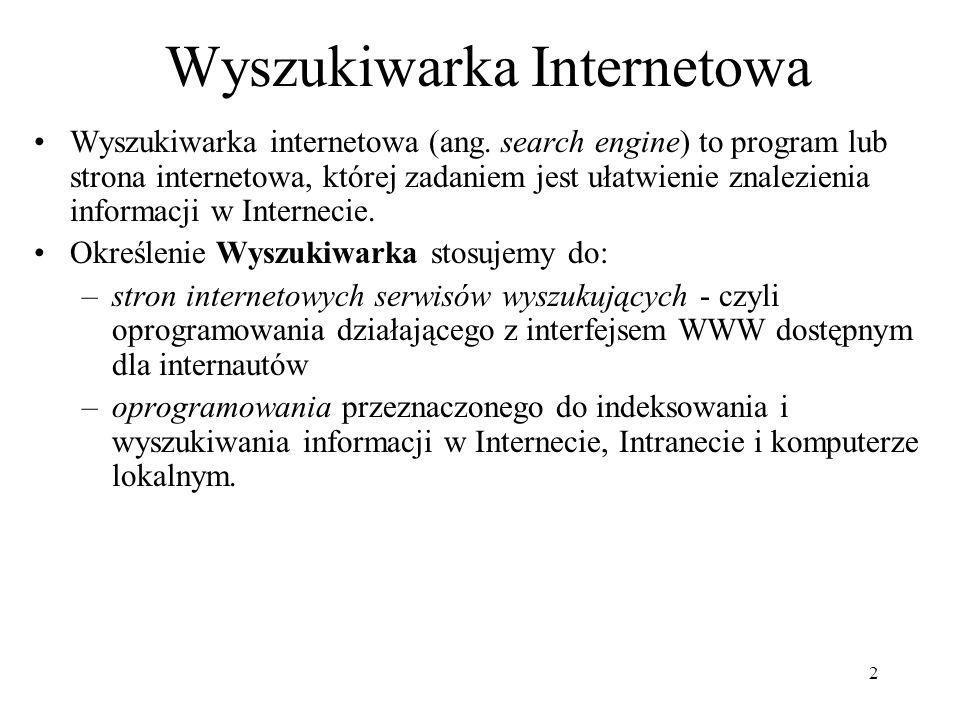 Wyszukiwarka Internetowa