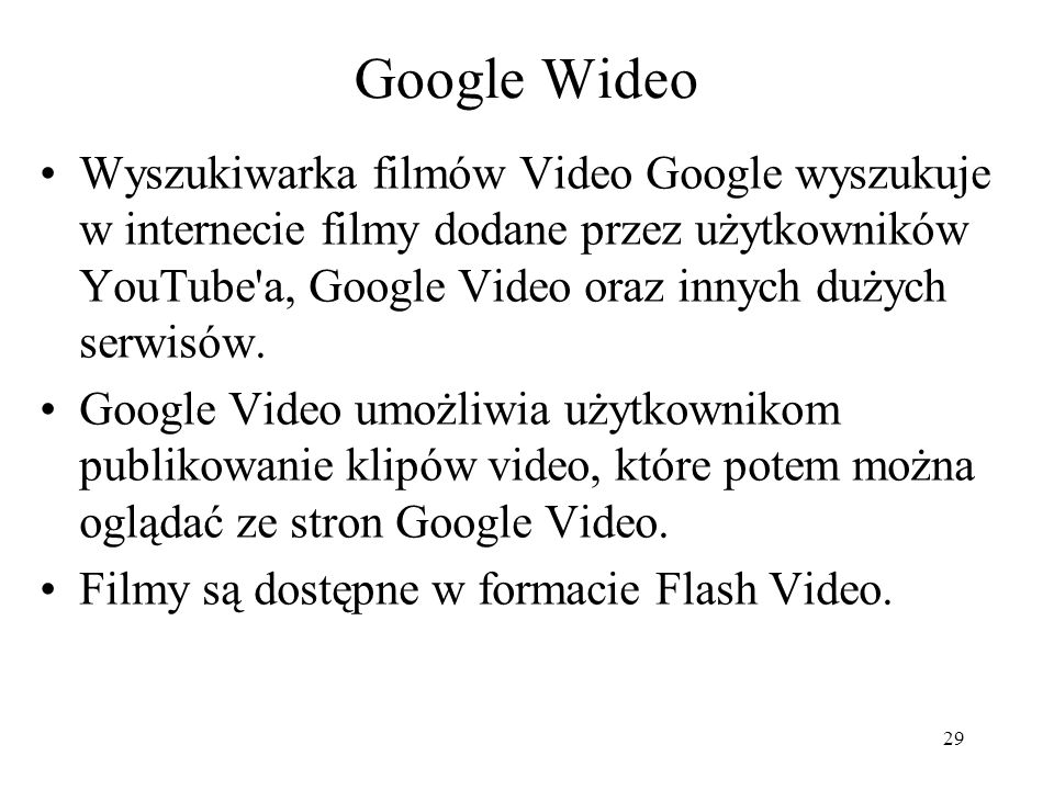 Google Wideo