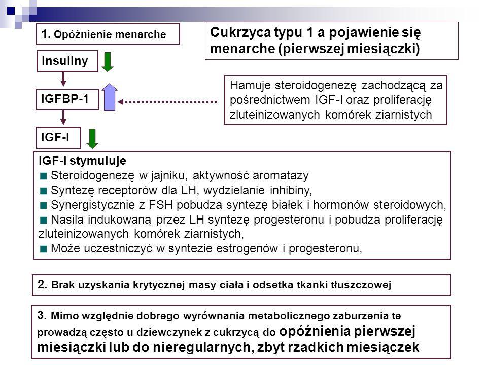 Cukrzyca typu 1 a pojawienie się menarche (pierwszej miesiączki)