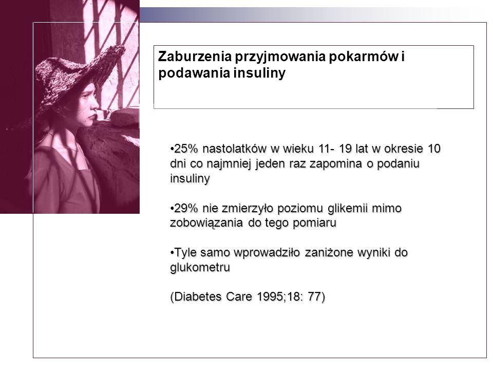 Zaburzenia przyjmowania pokarmów i podawania insuliny