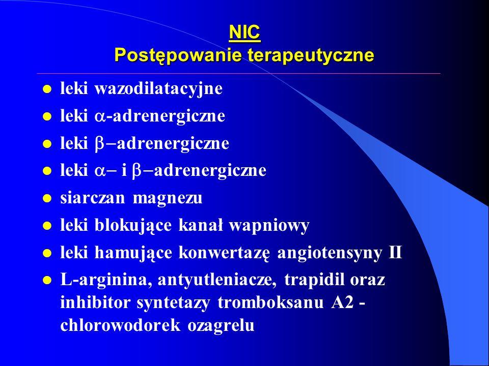 NIC Postępowanie terapeutyczne