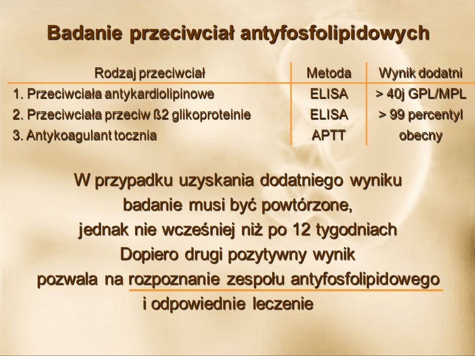Badanie przeciwciał antyfosfolipidowych