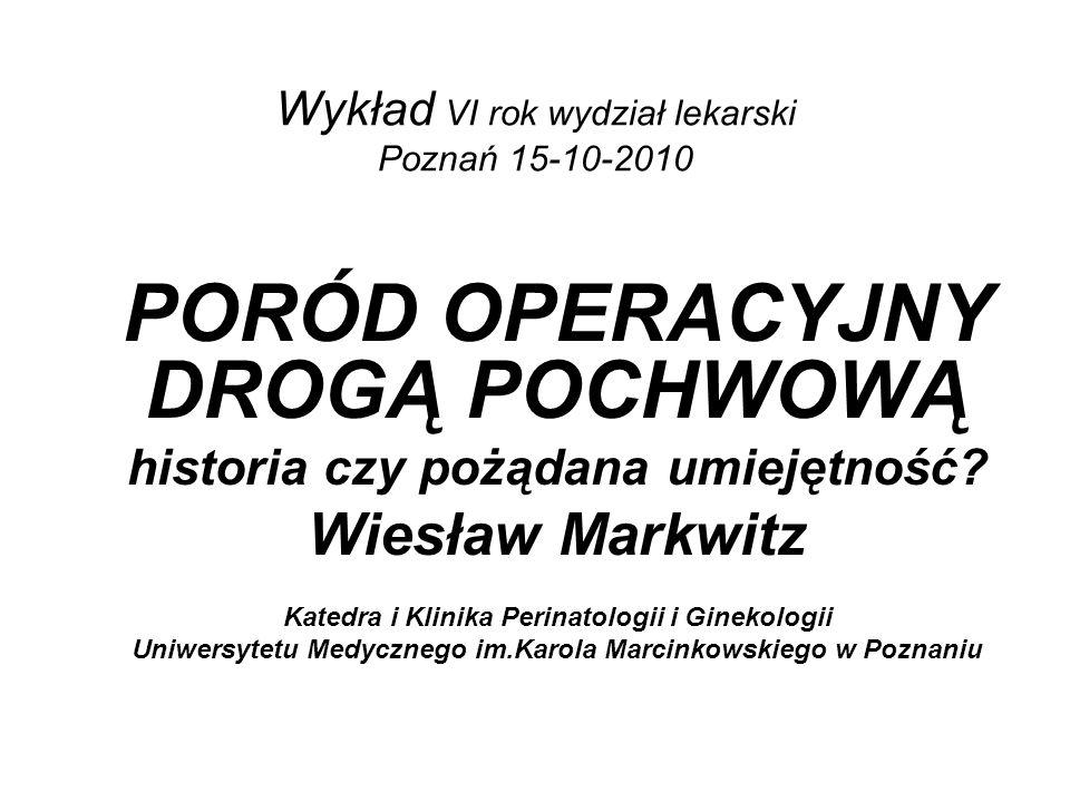 Wykład VI rok wydział lekarski Poznań 15-10-2010