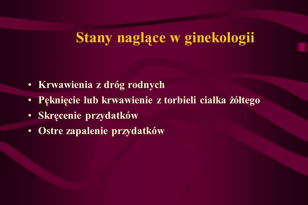 Stany naglące w ginekologii