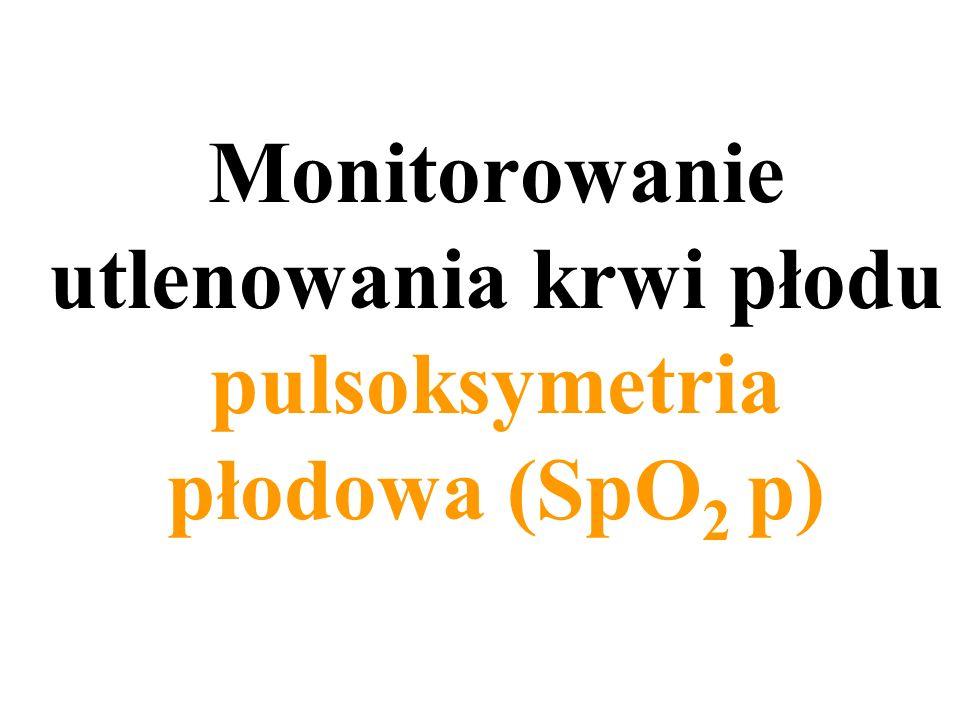Monitorowanie utlenowania krwi płodu pulsoksymetria płodowa (SpO2 p)