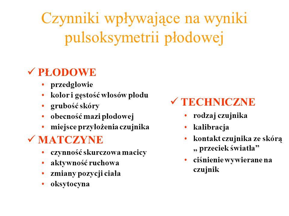Czynniki wpływające na wyniki pulsoksymetrii płodowej