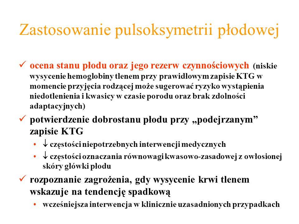 Zastosowanie pulsoksymetrii płodowej