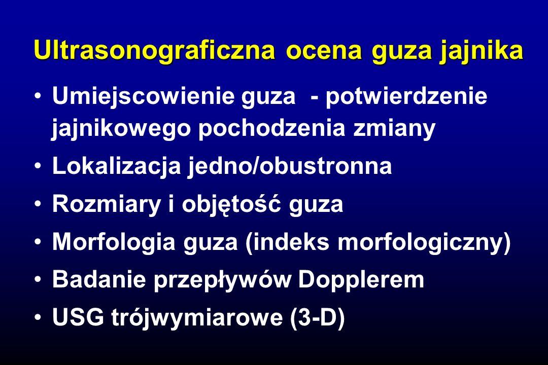 Ultrasonograficzna ocena guza jajnika