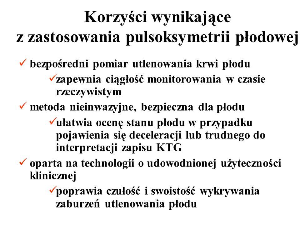 Korzyści wynikające z zastosowania pulsoksymetrii płodowej