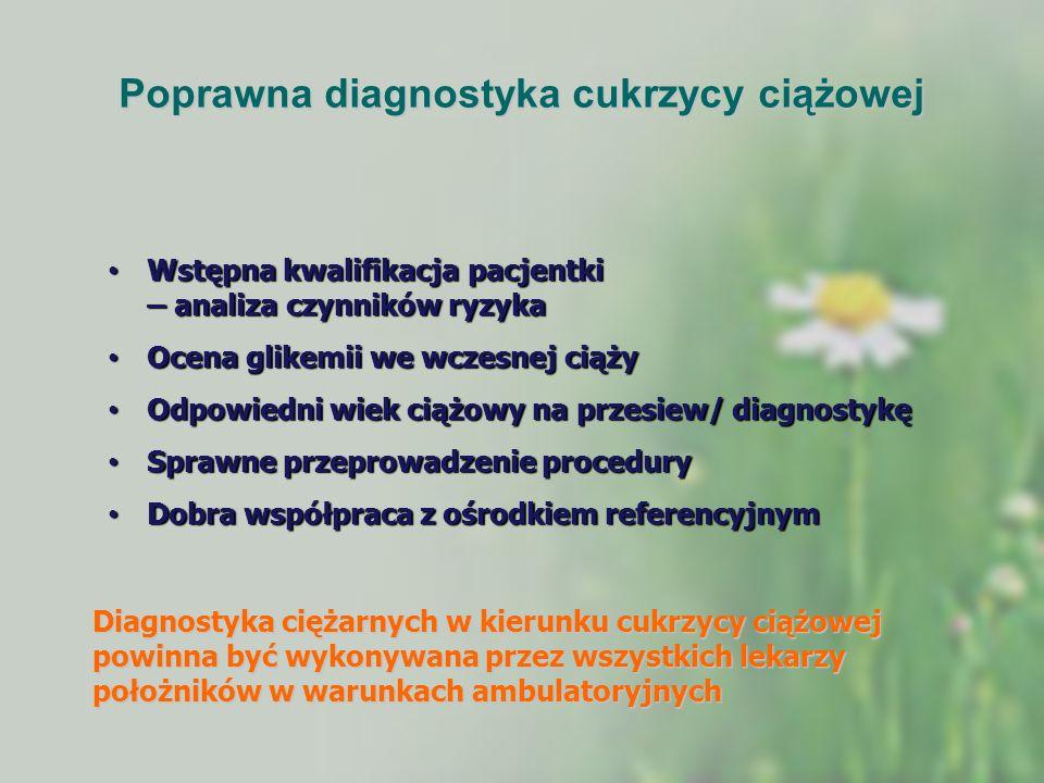 Poprawna diagnostyka cukrzycy ciążowej