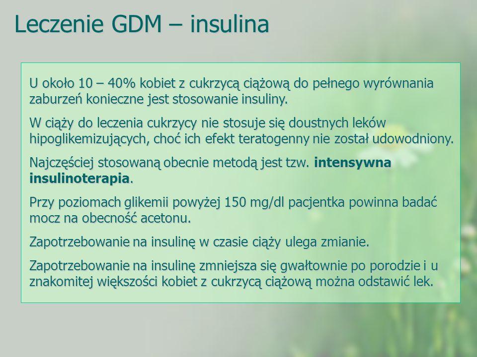 Leczenie GDM – insulina
