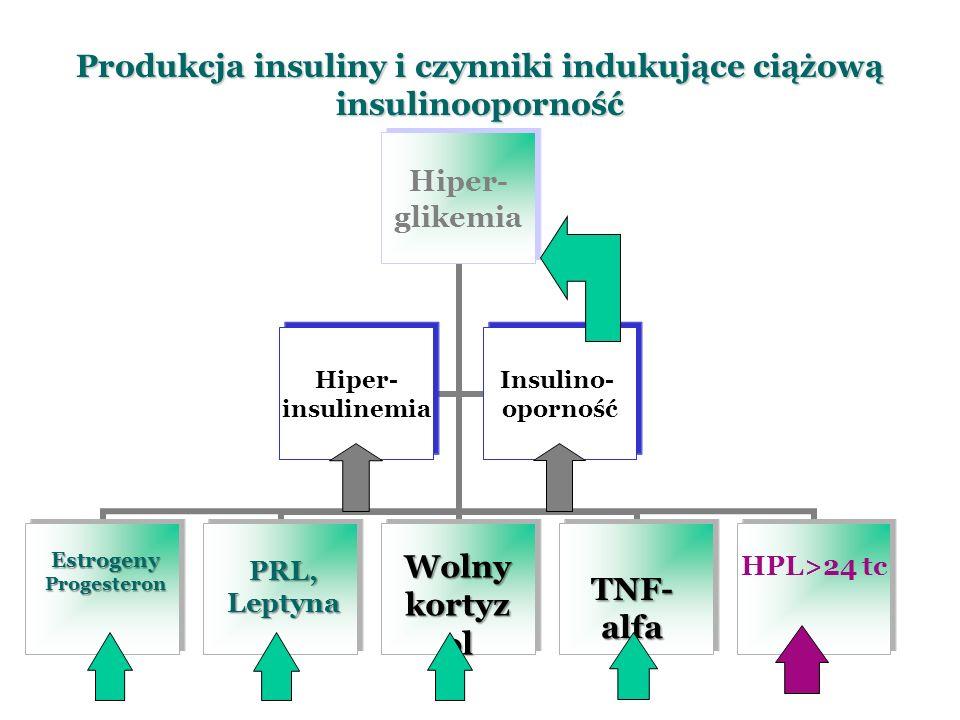 Produkcja insuliny i czynniki indukujące ciążową insulinooporność