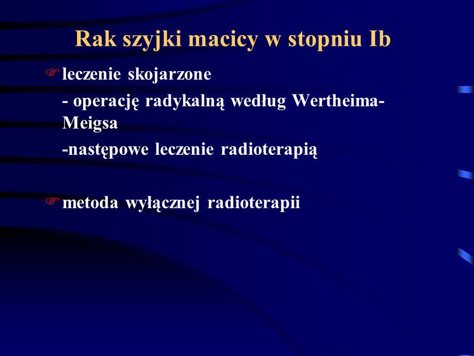 Rak szyjki macicy w stopniu Ib