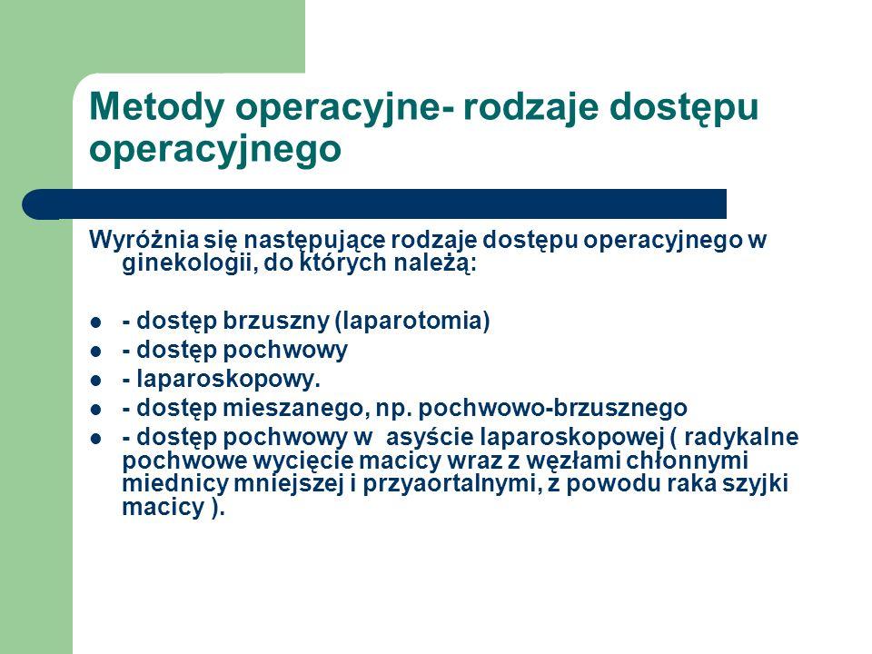 Metody operacyjne- rodzaje dostępu operacyjnego