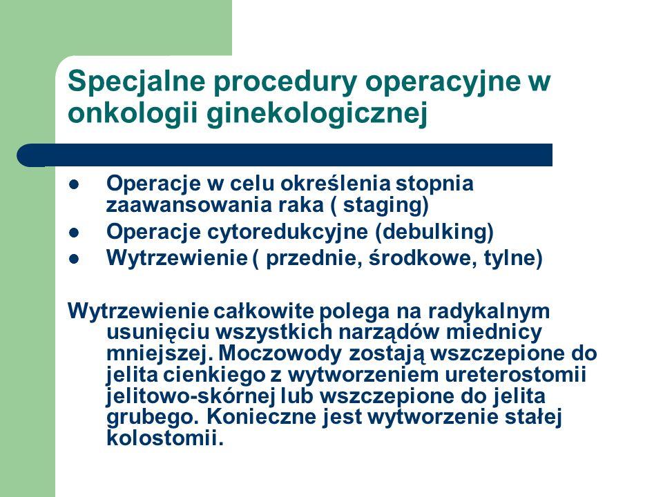 Specjalne procedury operacyjne w onkologii ginekologicznej
