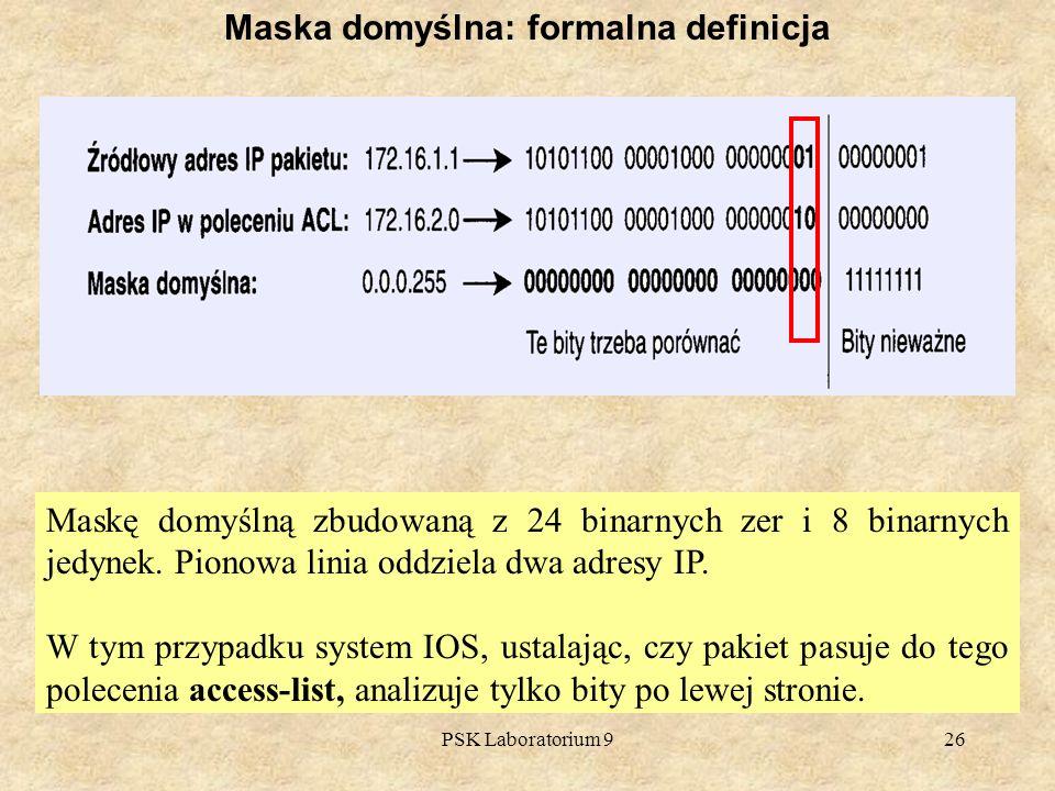 Maska domyślna: formalna definicja