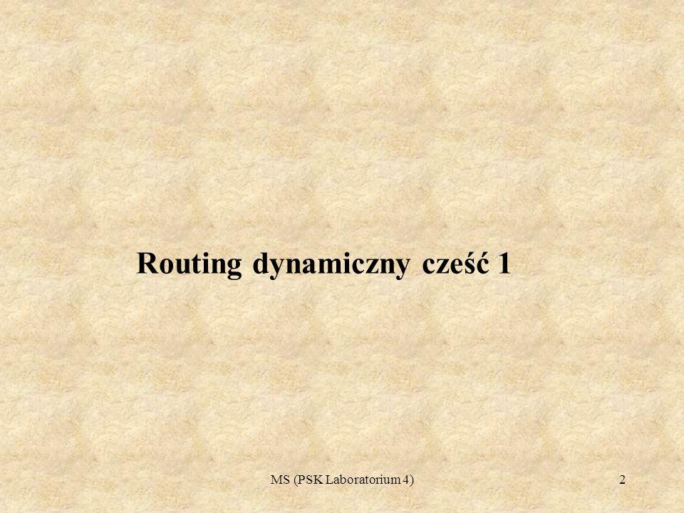 Routing dynamiczny cześć 1