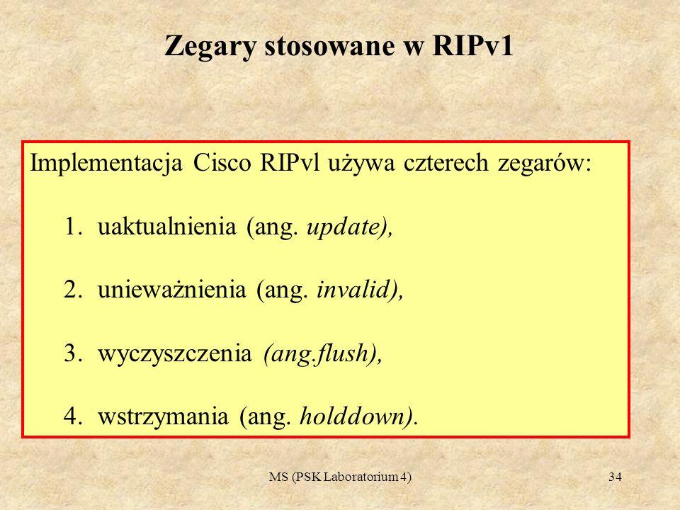 Zegary stosowane w RIPv1