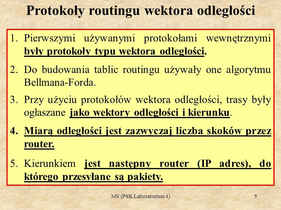 Protokoły routingu wektora odległości