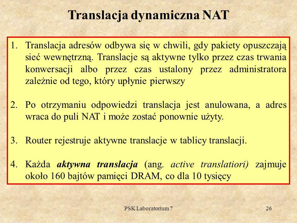 Translacja dynamiczna NAT